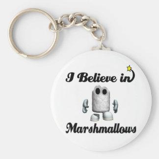 i believe in marshmallows basic round button keychain