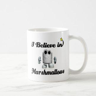 i believe in marshmallows coffee mug