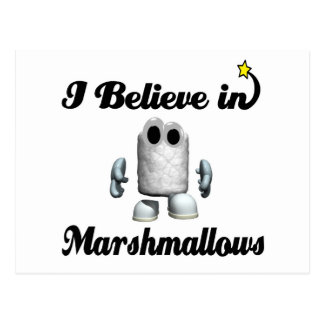i believe in marshmallows postcard