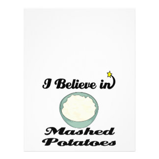 """i believe in mashed potatoes 8.5"""" x 11"""" flyer"""