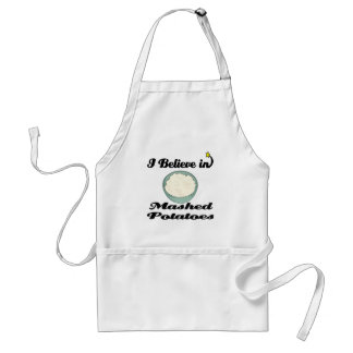 i believe in mashed potatoes aprons