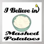 i believe in mashed potatoes print