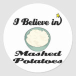 i believe in mashed potatoes stickers
