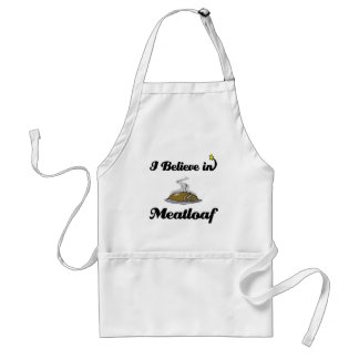 i believe in meatloaf adult apron