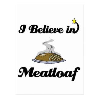 i believe in meatloaf postcard