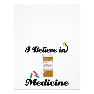 i believe in medicine flyer design