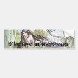 I believe in mermaids car bumper sticker