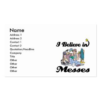 i believe in messes Double-Sided standard business cards (Pack of 100)