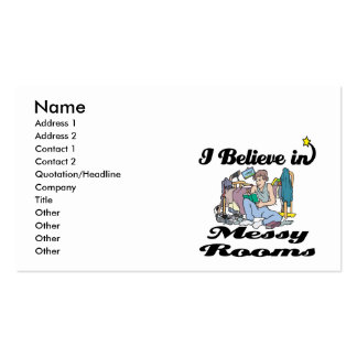 i believe in messy rooms Double-Sided standard business cards (Pack of 100)