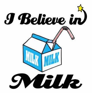 i believe in milk standing photo sculpture