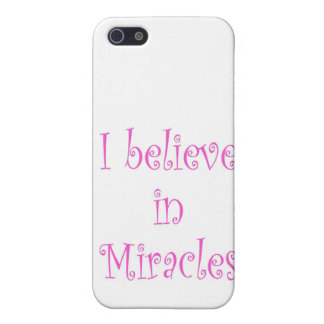 I Believe in Miracles Case For iPhone SE/5/5s