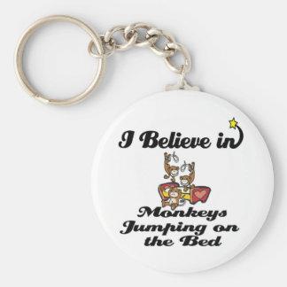 i believe in monkeys jumping on bed key chains