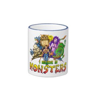 I Believe in Monsters Ringer Coffee Mug