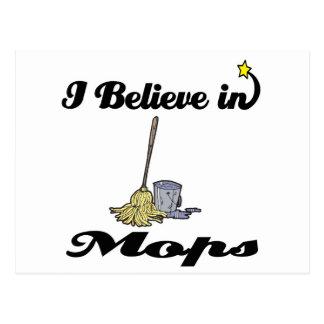 i believe in mops postcard
