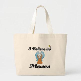 i believe in moses jumbo tote bag