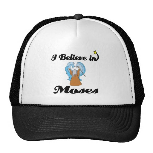 i believe in moses mesh hat