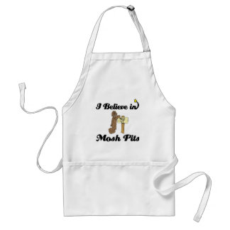 i believe in mosh pits adult apron