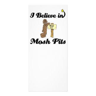 i believe in mosh pits customized rack card