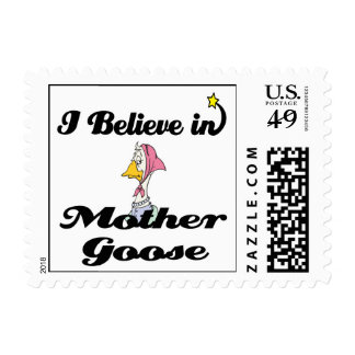 i believe in mother goose stamp