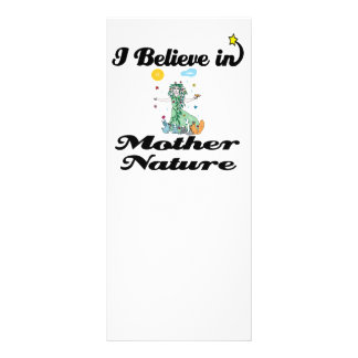 i believe in mother nature personalized rack card
