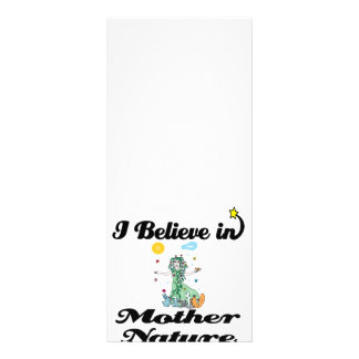 i believe in mother nature rack card design