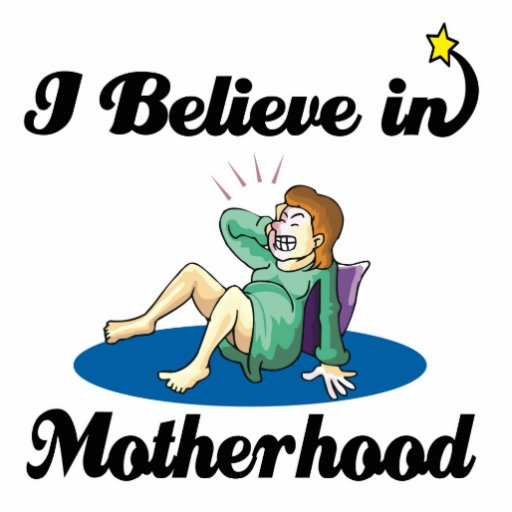 i believe in motherhood photo sculptures