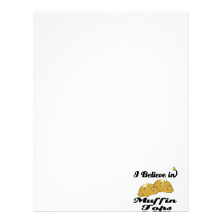 i believe in muffin tops letterhead