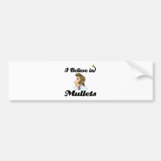 i believe in mullets bumper sticker