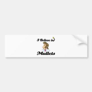 i believe in mullets car bumper sticker
