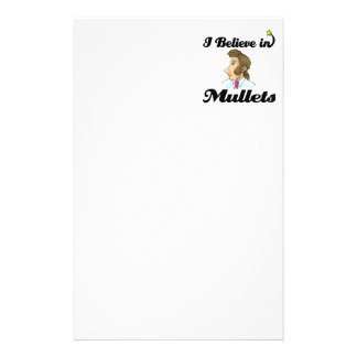 i believe in mullets stationery paper