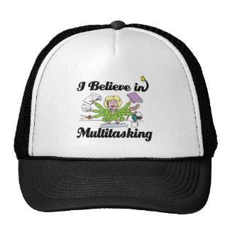 i believe in multitasking hats