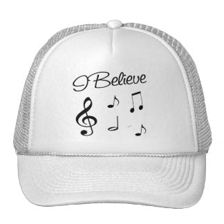 I believe in Music Mesh Hats