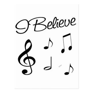 I believe in Music Postcard