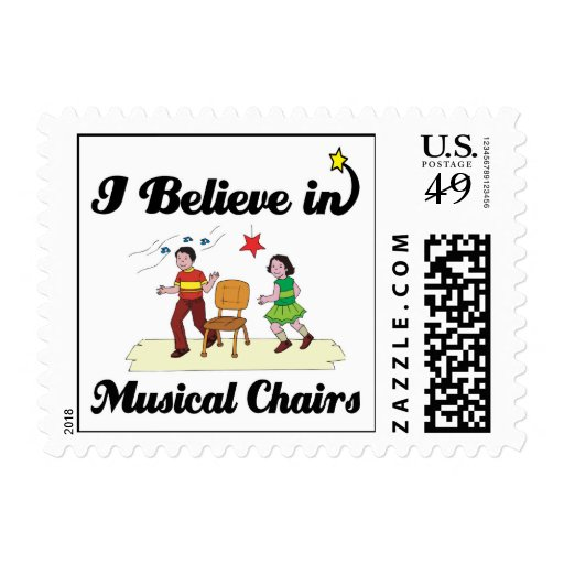 i believe in musical chairs stamp