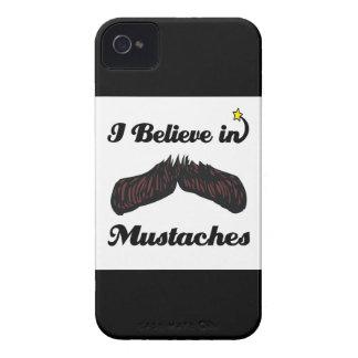 i believe in mustaches Case-Mate iPhone 4 case