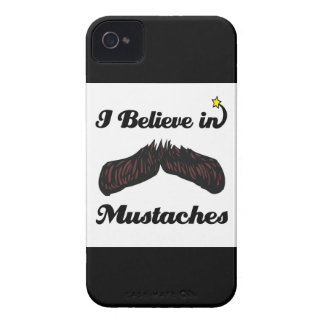 i believe in mustaches iPhone 4 covers