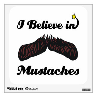 i believe in mustaches room graphic