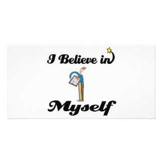 i believe in myself photo card