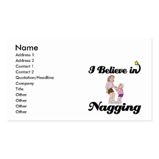 i believe in nagging Double-Sided standard business cards (Pack of 100)