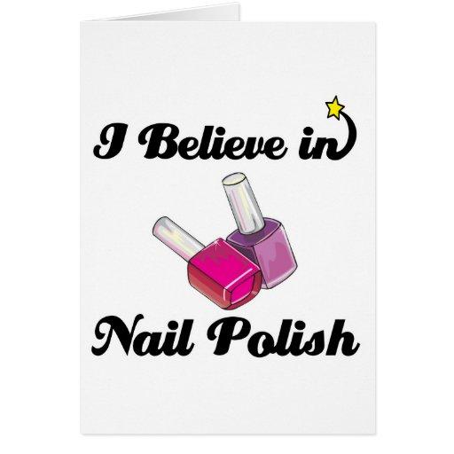 i believe in nail polish card