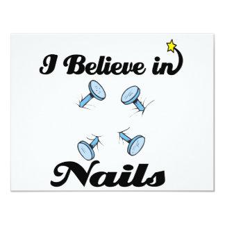 i believe in nails custom invites