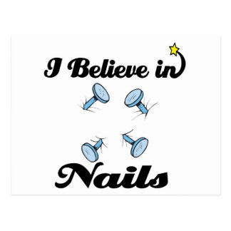 i believe in nails postcard