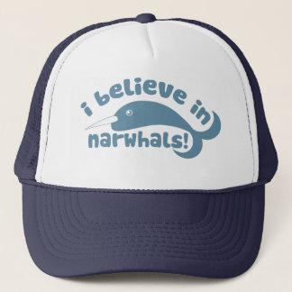I believe in Narwhals Trucker Hat