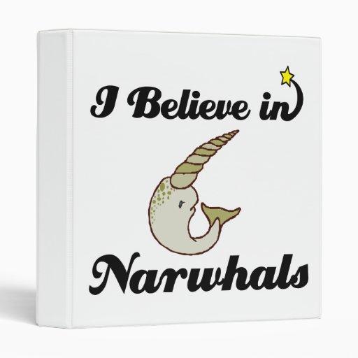 i believe in narwhals vinyl binder