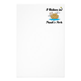 i believe in noahs ark stationery paper