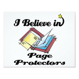 i believe in page protectors 4.25x5.5 paper invitation card