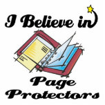 i believe in page protectors photo cut out