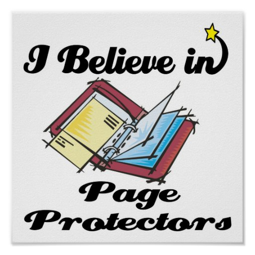 i believe in page protectors poster