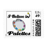 i believe in palettes postage stamps