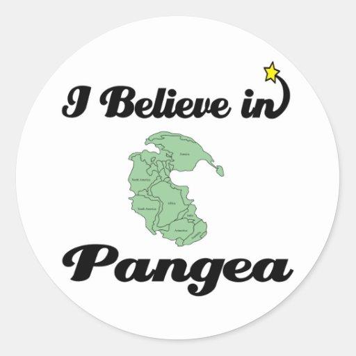 i believe in pangea classic round sticker